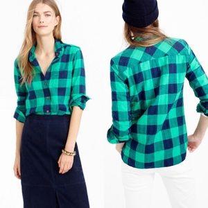 J. Crew Buffalo Check Flannel Shirt